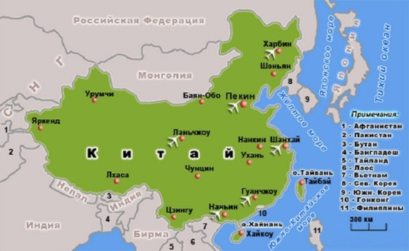 Китай карта